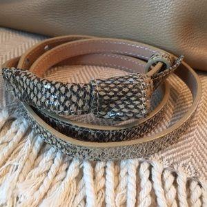 Genuine leather python belt size medium